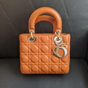 Christian Dior Lambskin Lady Dior Small